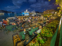 Resort yacht bar at night Royalty Free Stock Photos