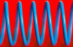Resorte azul Imagen de archivo