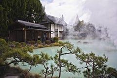resorte caliente en Japón Imágenes de archivo libres de regalías