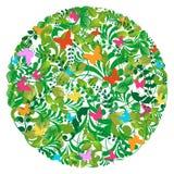Resorte del bosque y modelo verdes del verano ilustración del vector