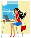 Resorte en la oficina Imagen de archivo libre de regalías