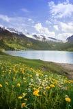 Resorte en las montan@as, Suiza imagenes de archivo