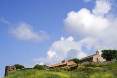 Resorte en una isla griega Fotografía de archivo libre de regalías