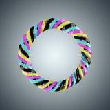 Resorte espiral de los colores de CMYK Fotos de archivo libres de regalías