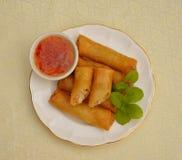 Resorte frito Rolls Imagen de archivo