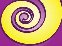Resorte púrpura y amarillo Imagen de archivo