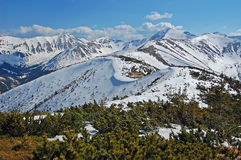 Resorte temprano en Tatras del oeste, Polonia Imágenes de archivo libres de regalías