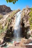 Resortes calientes de Hammamat Ma'in en Jordania Foto de archivo libre de regalías