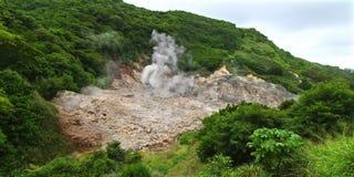 Resortes del sulfuro - santo Lucía foto de archivo