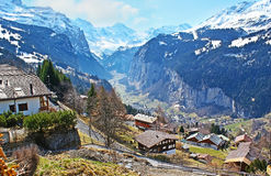 The resorts in Alps Stock Photography