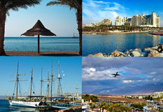 Resorts and attractions in Eilat city, Israel Royalty Free Stock Image