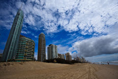 Resorts at Beach in Surfers Paradise Royalty Free Stock Photo