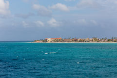 Resorts on Coast of Aruba Stock Image