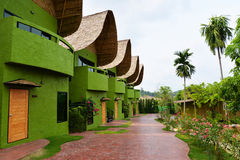 Resorts garden beautiful. Beautiful garden in the resorts Stock Image