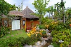 Resorts garden beautiful Stock Photos