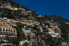 Resorts and houses of Positano, a town on the Amalfi Coast Royalty Free Stock Images
