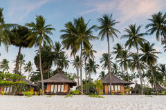 Resorts in island beside the sea beach Royalty Free Stock Photos