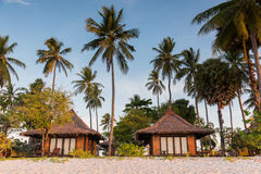 Resorts in island beside the sea beach Stock Photography