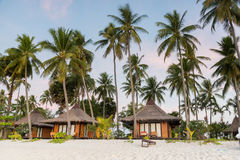 Resorts in island beside the sea beach Royalty Free Stock Photography