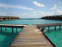 Resorts. Maldives resorts facilities on the Indian Ocean Royalty Free Stock Photos