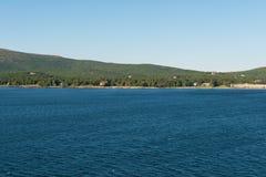 Resorts and marina. Bar Harbor, Mount Desert Island, Maine Stock Image
