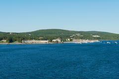Resorts and marina. Bar Harbor, Mount Desert Island, Maine Stock Photo
