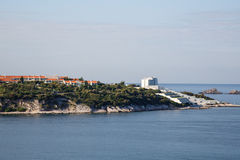 Resorts on Point of Land in Croatia Stock Photo