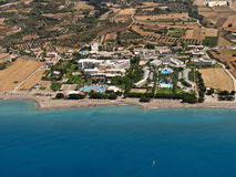 Resorts in Rhodes, aerial Stock Photos