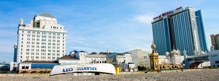 Resorts and Taj Mahal from the beach in Atlantic City Royalty Free Stock Photo
