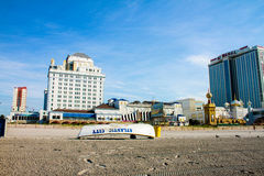 Resorts and Taj Mahal from the beach in Atlantic City Royalty Free Stock Photography