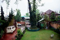 Resorts in the Valley- Kashmir stock photo