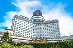 Resorts World Genting is a hill resort located in Bentong, Pahang, Malaysia. People can seen exploring around it. Genting Highlands, Malaysia - October 18,2017 Stock Photo