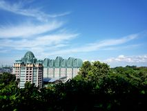 Resorts World Sentosa with beautiful sky Stock Images