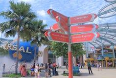 Resorts World Sentosa and Universal Studio Singapore Stock Image