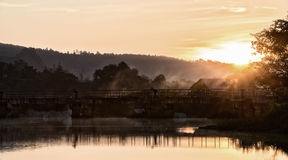 Resorvoir. Morning chiang rai thailand Royalty Free Stock Photography