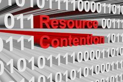 Resource contention Stock Photo