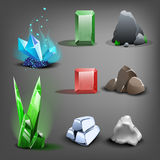 Resource icons for games. Royalty Free Stock Image