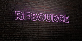RESOURCE -Realistic Neon Sign on Brick Wall background - 3D rendered royalty free stock image. Can be used for online banner ads and direct mailers vector illustration