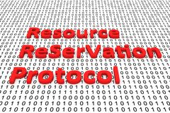Resource ReSerVation Protocol. In the form of binary code, 3D illustration Stock Photography