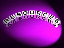 Resources Dice Mean Collateral Assets and Savings Royalty Free Stock Photography