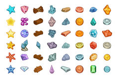 Resources for games Icons big vector Set Royalty Free Stock Photo