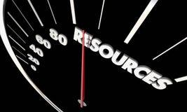 Resources Money Funding Speedometer royalty free illustration