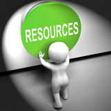 Resources Pressed Means Funds Capital Or Staff Royalty Free Stock Photography