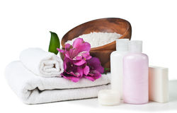Resources for spa and flowers Royalty Free Stock Photo