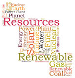 Resources word cloud Stock Photo