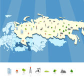 Resourse map template. On blue Stock Photo