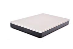 Respaldo de la unidad de disco duro externa aislado Imágenes de archivo libres de regalías