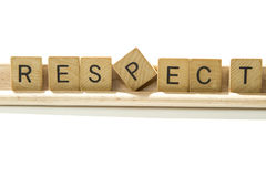 Respect. Wood letters of the word respect stock photo