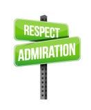 Respect admiration road sign illustration design Stock Photo