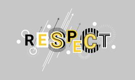 Respect And Appreciation Web Banner Abstract Template Background. Vector Illustration Royalty Free Stock Image